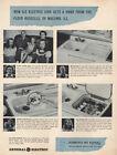 1946 GE Electric Sink: Floyd Russells of Macomb Illinois Vintage Print Ad photo