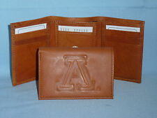 ARIZONA WILDCATS   Leather TriFold Wallet    NEW    brown 3  m1