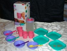 Tupperware Kids Mini Serve It Luncheon Pitcher Mugs Bowls Plates Set New in Box