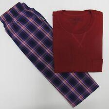 Schiesser Schlafanzug Kurzarm Gr. XL/54 Blau Rot kariert UVP 52,90