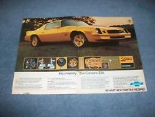 "1978 Chevy Camaro Z/28 Vintage 2pg Ad ""His Majesty. The Camaro Z28"""