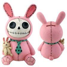 "New Furrybones Furry Bones Bun Bun Bank 6"" Skull Skeleton Figurine Gift 7719"