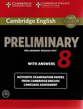 Cambridge PRELIMINARY ENGLISH TEST 8 Book with Answers & 2 Audio CDs PET @NEW@