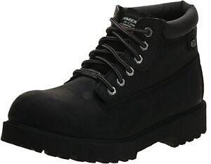 Mens Skechers Sergeants Verdict Waterproof Utility Boot - Black, Size 7.5 M US