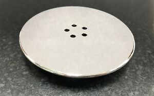 Chrome Cap Cover for 90mm Shower Tray Wastes High Fast Flow (5 Hole Design)