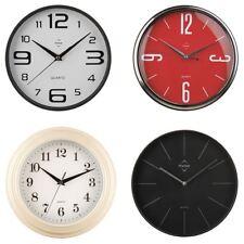 Quartz WALL CLOCK / Black, Red, Cream, White / Kitchen, Home, Office, Room