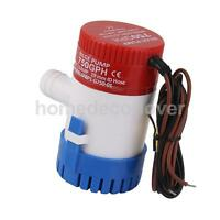12V Submersible 750 GPH Marine Fishing Boat Bilge Pump 19mm Hose