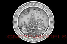 3d Model Stl For Cnc Happy New Year Aspire Merry Christmas Santa Claus D769