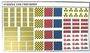 BattleTech - 80x Waterslides Decals - Stripes and Checkers