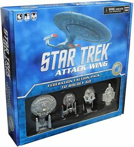 STAR TREK ATTACK WING FEDERATION FACTION PACK- TO BOLDLY GO..