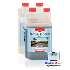 CANNA AQUA FLORES A&B 2X1L FRESH IN DATE HYDROPONIC BLOOM FLOWER NUTRIENTS