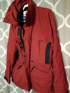 Vintage RED burton snowboard jacket men's size Large