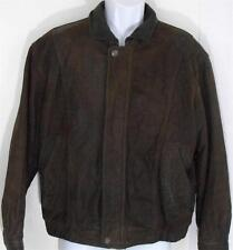 Vintage Members Only Mens Distressed Leather Bomber Jacket Medium Motorcycle M