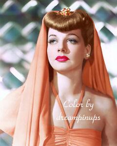 ANN SHERIDAN 1942 Hollywood Color Portrait VEILED GLAMOUR