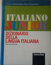 Vocabolario Dizionario Italiano Junior Loescher Scuola Elementari e Medie NUOVO