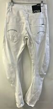 G-STAR RAW Arc 3D Loose Tapered 3301 Mens Denim Jeans Pants White Size W31 L34