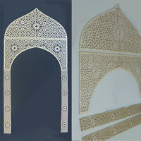 Dekorpaneele Tor mit Ornament Marokko in 3mm-Sperrholz Wanddeko Holzschnitt