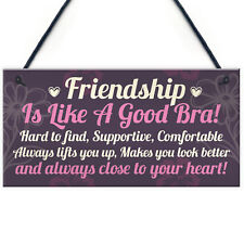 Handmade Friendship Sign Best Friend Shabby Chic Plaque Thank You Gift Keepsake
