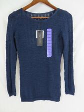 Rachel Zoe Sweater Pull Over Style Long Sleeve Rounded Neck Navy Size XS  #7084