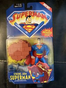 SUPERMAN ANIMATED SERIES STRONG ARM SUPERMAN WITH POWER THROW ACTION