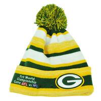 NFL New Era Super Bowl Sport Knit Green Bay Packers Knit Beanie Striped Toque