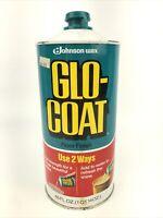 Vintage 1979 46 Fl oz. Glo-Coat Tin Can S.C Johnson Floor Wax 70% Full Estate