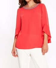 Coral Pearl Trim Bell Sleeve Top 20