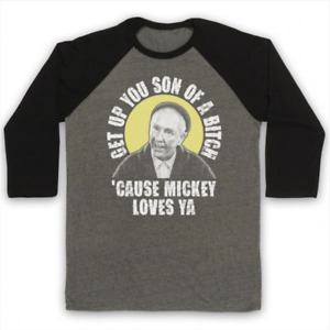 GET UP YOU SON OF A UNOFFICIAL ROCKY MICKEY LOVES YA 3/4 SLEEVE BASEBALL TEE