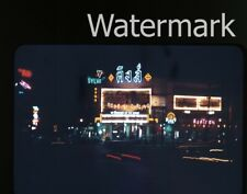 1950s  kodachrome Photo slide   Movie Theater at night Neon Signs Thailand