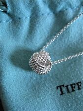 """$160 Tiffany & Co Sterling Silver 925 Twist Knot Pendant on 16""""inch Necklace"""