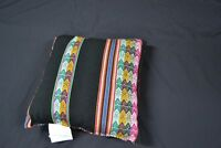 Handmade Black Sarape Pillow