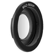 Adapter M42 Objektiv an Nikon Kamera mit Glaslinse unendliche Fokussierung