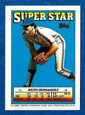 1988 Topps Sticker Cards KEITH HERNANDEZ FOIL Blank-Back *ERROR* New York Mets