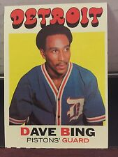 1971-72 Topps Detroit Pistons Dave Bing Base Card #78