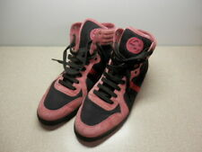 GUCCI HIGH TOP FASHION SNEAKERS MAUVE/RED BLACK COLOR SIZE 11