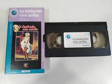 LA TENTACION VIVE ARRIBA MARILYN MONROE VHS CAJA CARTON CASTELLANO EL MUNDO