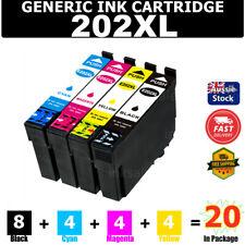 4x Ink Cartridge Compatible 202 XL 202XL for Epson Wf2860 Wf-2860 Xp5100 Xp-5100