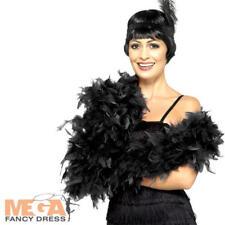 Deluxe Nero in piuma BOA Donna Costume 1920 S Charleston Flapper Costume ACC