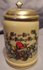 "Vintage Gerz/R. Schaller W. Germany 'One For All, All For One"" 0.5 Lidded Stein"
