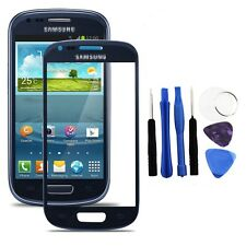 Azul Exterior Lcd Pantalla Vidrio Lente reparación 4 Samsung Galaxy S3 Mini Gt I8190 + Herramientas