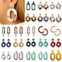 Jewelry Geometric Hoop Fashion Lady Earrings Resin Dangle Drop Stud Party Gifts