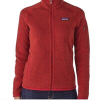 Patagonia Women's Red Better Sweater Full Zip Pocket Fleece Jacket Size Small