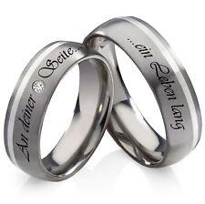 Los anillos de boda, alianzas de titanio y 925 plata con circonita anillos grabado láser t965