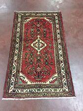 "Semi Antique Hand Knotted Persian Hamadan Geometric Rug Carpet 3x5,2'6""x4'5"""