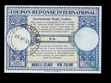 NEW ZEALAND 1953 REPLY COUPON 8d...WAIPUKURAU