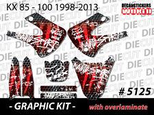 *NEW* GRAPHIC KIT KX85 KX100 KX 85 100 RED VINYL DECAL STICKER GRAPHICS 5125
