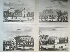 CHIESA di Mallagam Achiavelli, Mayletti Oudewil incisione su rame Amsterdam 1672