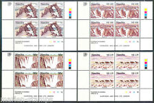 Namibia Tourism Scott#816/19 Plate Blocks Of Four Mint Never Hinged