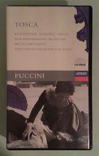 TOSCA  bartoletti / kabaivanska / domingo / milnes  VHS VIDEOTAPE with booklet