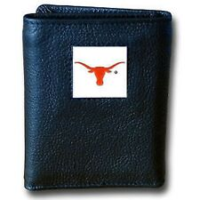 Texas Longhorns NCAA Tri-fold Leather Wallet NICE GIFT, REDUCED PRICE, LAST ONE